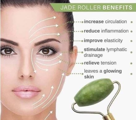 Image result for Natural Jade Face Massage Roller